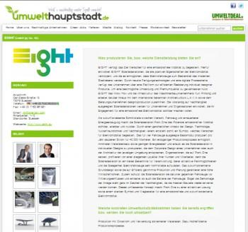 EIGHT auf Umwelthauptstadt.de